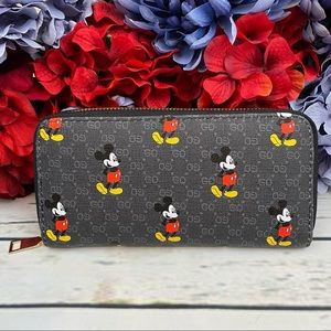 Black Mickey Mouse Clutch Wallet Checkbook